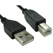 1.8m USB 2.0 High Speed Cable Printer Lead A to B Black Epson Kodak HP 2m 6ft Kj
