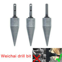 Log Splitter Screw Cone Kindling Firewood Splitter Hand Drill Stick Copper Ø10mm