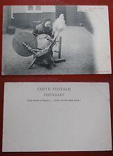 CARTOLINA CARTE POSTALE DÉBUT 1900 - EN FLANDRE - FILEUSE SÉRIE 75 N.5
