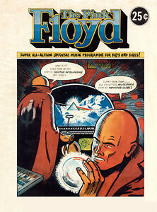 PINK FLOYD Very Rare 1975 16 Page Reproduction Tour Comic 16 Page Programme