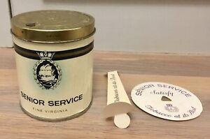 WW2 Vintage Cigarettes Tin for 50 Senior Service Cigarettes VGC Card Inserts