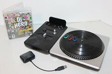 DJ Hero Wireless Turntable & Game (PS3) w/ Dongle Bundle Used Untested