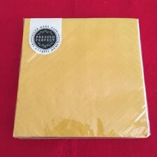 Cypress Home Pressed Perfect Dessa Yellow Cocktail Paper Napkins Pck 20