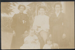 Ancestors Postcard - Family History -Group of Ladies and Children  MB443