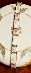 VTG David - Andersen Norway Sterling + Gold Guilloche Floral Bracelet Signed