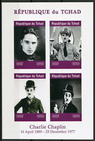 Chad 2019 MNH Charlie Chaplin Hitler 4v IMPF M/S Actors Famous People Stamps