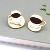 Coffee Cup Shape Enamel Lapel Pin Badge/Brooch Jewelry Shirt Collar Decor WE