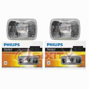2 pc Philips High Low Beam Headlight Bulbs for Peugeot 505 1984-1991 ow