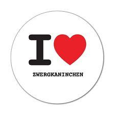 I love ZWERGKANINCHEN - Aufkleber Sticker Decal - 6cm