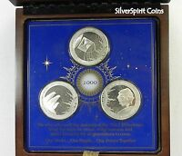 2000 DAWN OF THE NEW MILLENNIUM EYEWITNESS Silver Commemorative Medals