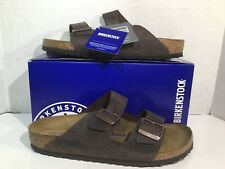 Birkenstock Mens Size 10 EU 43 Narrow Arizona Habana Leather Sandals ZD-456