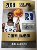ZION WILLIAMSON 2018 Rookie Phenoms Gold Platinum Cards ONLY 2000 MADE