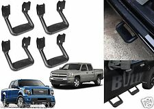 (4) Black Bully BBS-1103 Aluminum Side Step Rocker Panel Mount New Free Ship