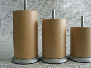 Möbelfüße Holzfüße Rundfüße Couchfüße Buche LACKIERT 10-12-15-20cm. M8