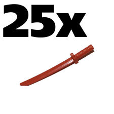 NEW LEGO - Weapon - sword - Katana / Shamshir Red x 25 - Ninja Ninjago