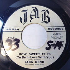 """Jack Reno 45 Juke Box/How Sweet It Is To Be In Love JAB Records Country PROMO 7"""""""