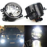 LH+RH LED Front Bumper Fog Light Driving Lamps For Mitsubishi Triton 2006-2018