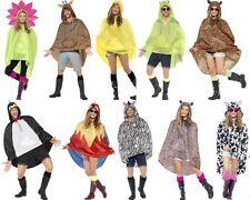 Adult Mens Ladies Waterproof Festival Animal Print Party Poncho Funny Raincoat