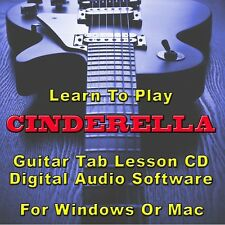 CINDERELLA Guitar Tab Lesson CD Software - 22 Songs