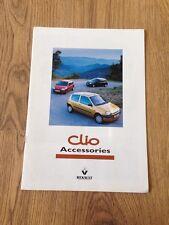 1999 Renault Clio Accessories Brochure