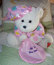 Dakin White All things grow with Love Prayer Tedddy Bear w Security Blanket 11""