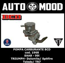 POMPA CARBURANTE ORIGINALE BCD 1968 - SAAB 99 i TRIUMPH DOLOMITE SPITFIRE TOLEDO