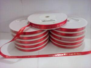 Personalized White 10mm Printed Ribbon Birthday Christmas Wedding Anniversary  ,