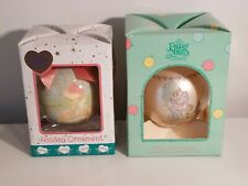 New ListingVintage Enesco Precious Moments Christmas Ornaments 1988,2000 set of 2