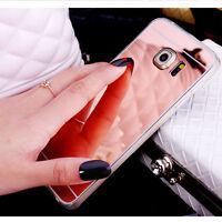 Luxury Ultra Thin Mirror Soft TPU Case Cover for iPhone Samsung Phones GG