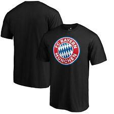 Bayern Munich Fanatics Branded Official Logo T-Shirt - Black