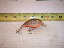 VINTAGE REBEL WEE-R SQUARE BILL BROWN CRAW RATTLING FISHING LURE