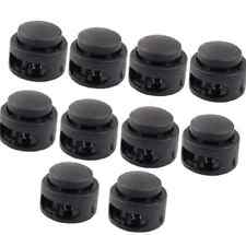 10 Pc Plastic Round Head Paracord Planet Double Barrel Hole Toggle Stoppers Diy