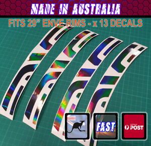 """ENVE style 29"""" disc Replacement Decals x 13 Black Holographic  OR CUSTOM"""