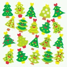 JOLLY CHRISTMAS TREE FOAM STICKERS XMAS BOYS GIRLS CARDS CRAFTS FREE POSTAGE
