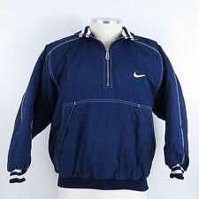 Nike Swoosh Puffy Full Zip Jacket Youth Size Large 14-16 Blue and White