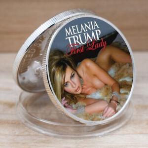 Art Ornament Melania Trump Commemorative Sliver Plated Metal  Business Gift