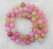 "Wholesale 8mm Pink Multicolor Kunzite Round Gemstone Loose Beads 15"" AA"