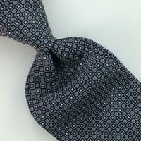 Versace By Gianni Versace Medusa Tie Dot Square Necktie Woven Gray Silk L6 New
