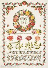 Thea Gouverneur  2043A  Sampler  Roses  Aïda  Broderie  Point de Croix  Compté