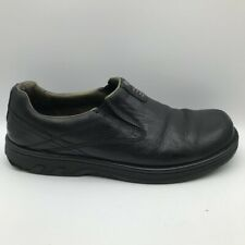 Merrell Mens World Legend Loafers Shoes Black Leather Low Top Slip-On 12