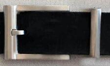 Gürtelschnalle + SCHLAUFE Gürtelbreite: 3,5cm FARBE: Mattsilber METALL Elegant #