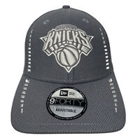 New Era NEW YORK KNICKS 9Forty 940 Adjustable Gray Strapback Hat Cap MLB