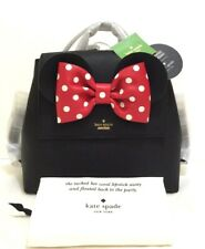 Kate Spade Disney Minnie Mouse Small Neema Backpack Purse Bag Black Pxru8273