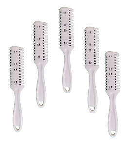 Double Edge Hair Trimmer Razor Comb Home Cuts Lot of 5