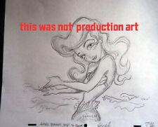 """Ariel Teaches You to Swim"" Gullerud Art Little Mermaid Disney Artist original"