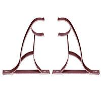 2/4Pcs Double Rod Holder Curtain Pole Bracket Heavy Duty Metal Aluminum Alloy EB