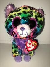 TY TRIXIE LEOPARD BEANIE BOOS**JUSTICE**-NEW, MINT TAG*HARD TO FIND*SO COLORFUL*