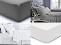 400TC EXTRA DEEP 40CM FITTED SHEET 100% EGYPTIAN COTTON DOUBLE SUPER KING SIZE