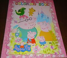 PEPPA PIG 16 PAGE COLORING BOOK WITH STICKERS (BRAND NEW)