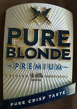 PURE BLONDE METAL TAP BADGE AND HANDLE BEER